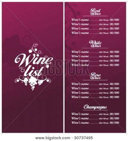 Wine Menu Template 12 Download Documents In Vector Eps Wine List