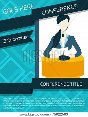 Conference announcement template Poster ID75822583