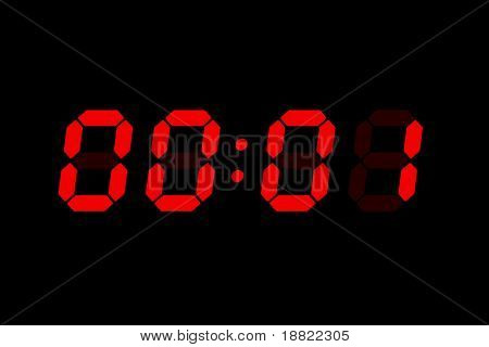 old lcd bomb timer countdown stock photo