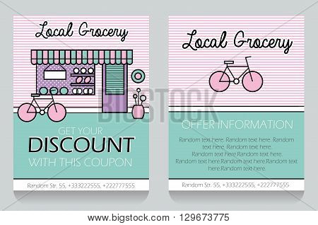 Trendy Minimalistic Icon Style Vector \ Photo Bigstock - coupon flyer