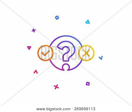 Quiz Test Line Icon Select Answer Sign Business Interview Symbol