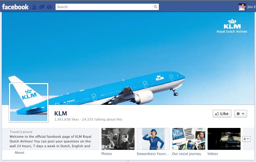 Facebook Timeline #KLM Timeline Facebook Pinterest Timeline - cover note