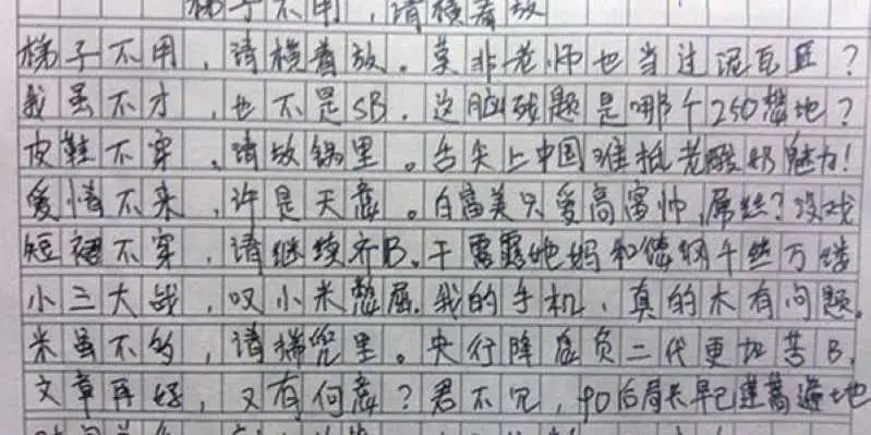 Chinese Teen39s Essay On Justice Business Insider