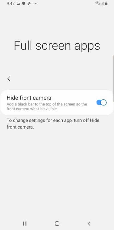 How to hide the camera notch on a Samsung Galaxy S10, by adjusting your screen or downloading a ...