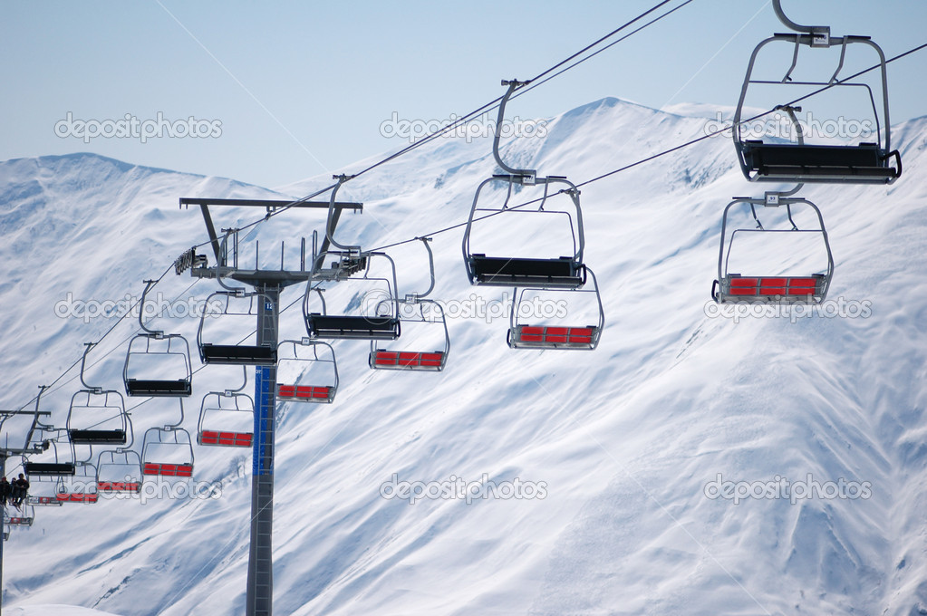 Ski Lift Chairs On Bright Day Stock Photo C Elnur 2685978