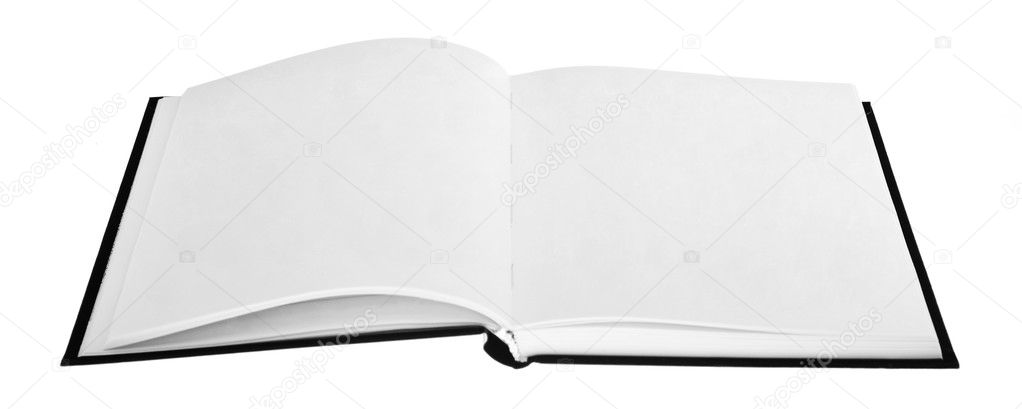 Opened book with blank pages \u2014 Stock Photo © Valeev #1303009 - opened book