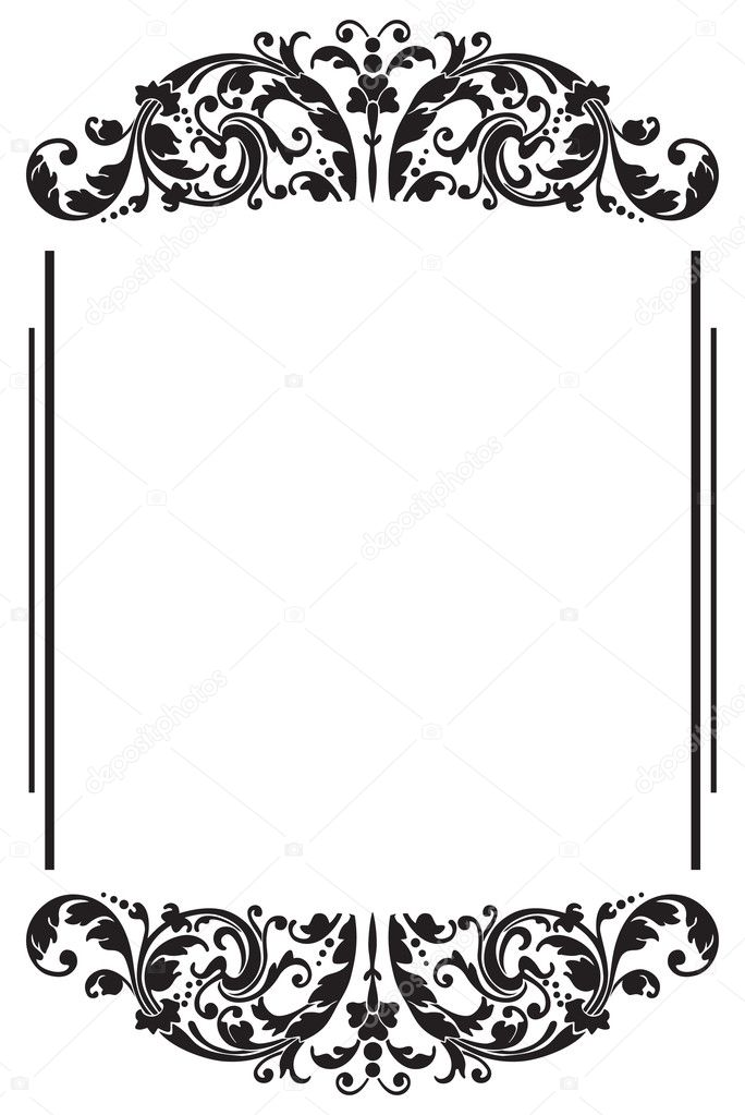 Black Border 2 \u2014 Stock Vector © Xelissa #2228708 - black border background