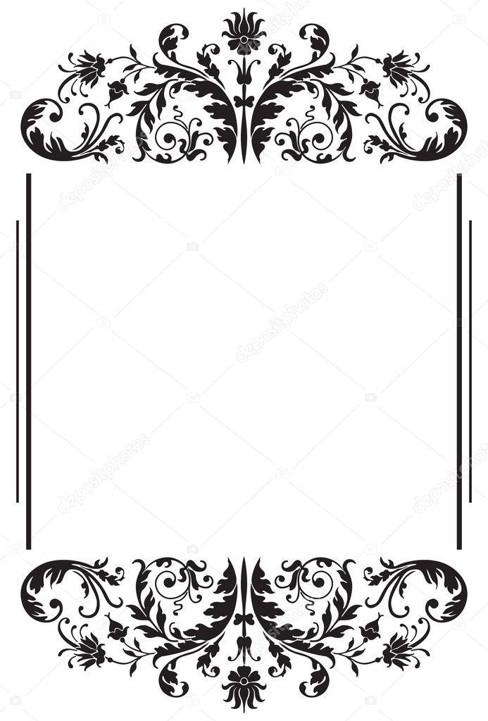 Floral black border \u2014 Stock Vector © kateen2528 #36056993 - black border background