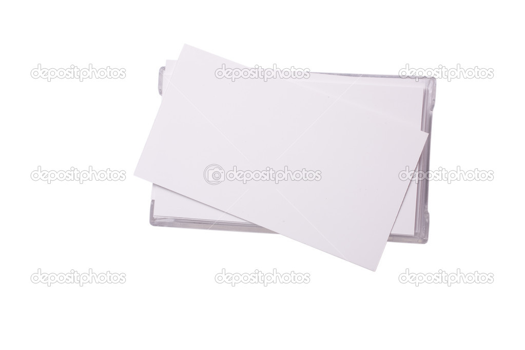 Business cards wiew from top \u2014 Stock Photo © grocap #1528325