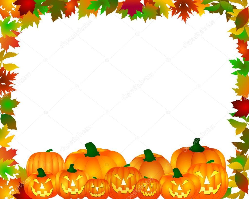 Cute Dia De Los Muertos Wallpaper Halloween Frame With Pumpkins Stock Photo 169 Pdesign 1779097