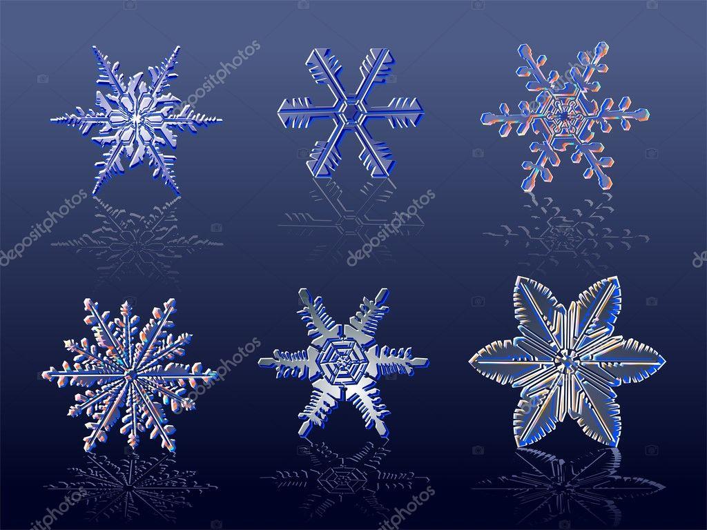 Falling Water Live Wallpaper Vector Real Snowflakes Stock Vector 169 Mechanik 1722527