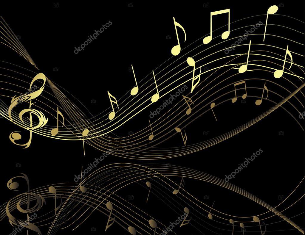 Live 3d Wallpaper Snowing Fondo Con Notas Musicales Vector De Stock 169 Jelen80 1972309