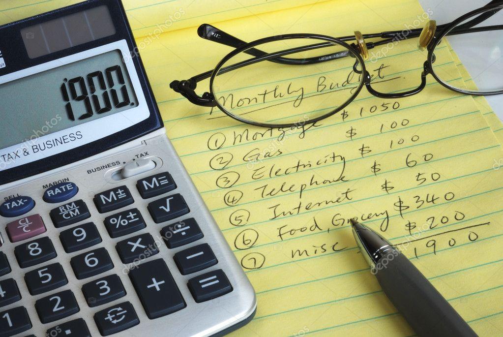 determinar el presupuesto mensual \u2014 Foto de stock © johnkwan #2017023 - presupuesto mensual
