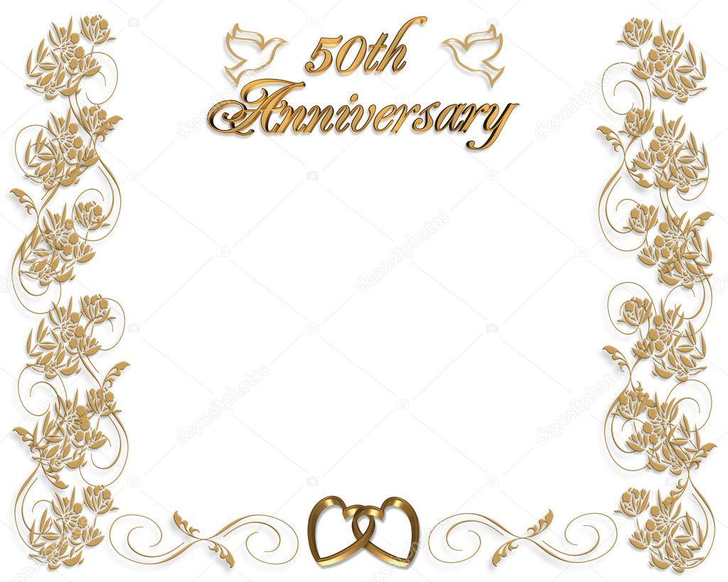 Wedding Anniversary Invitation 50 Years Stock Photo