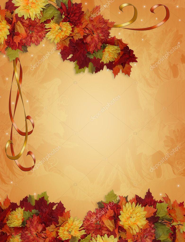 Fall Harvest Wallpaper Backgrounds Thanksgiving Autumn Fall Border Stock Photo 169 Irisangel