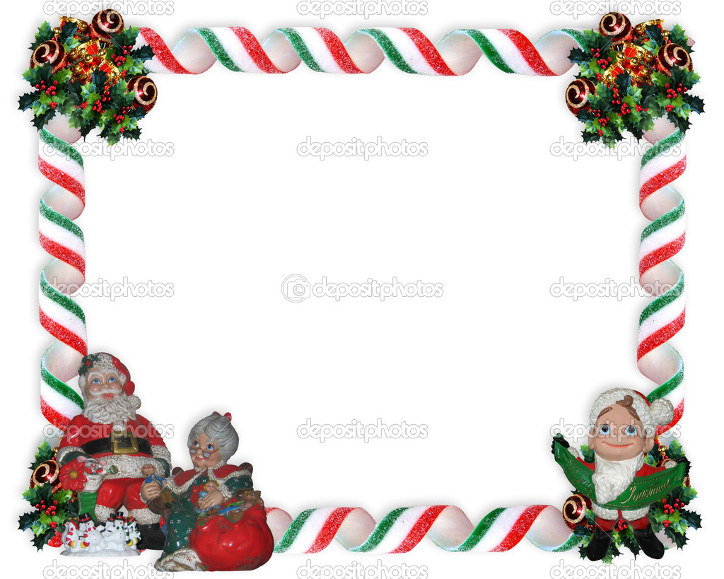 Christmas Photo Frame Border Stock Photo C Irisangel