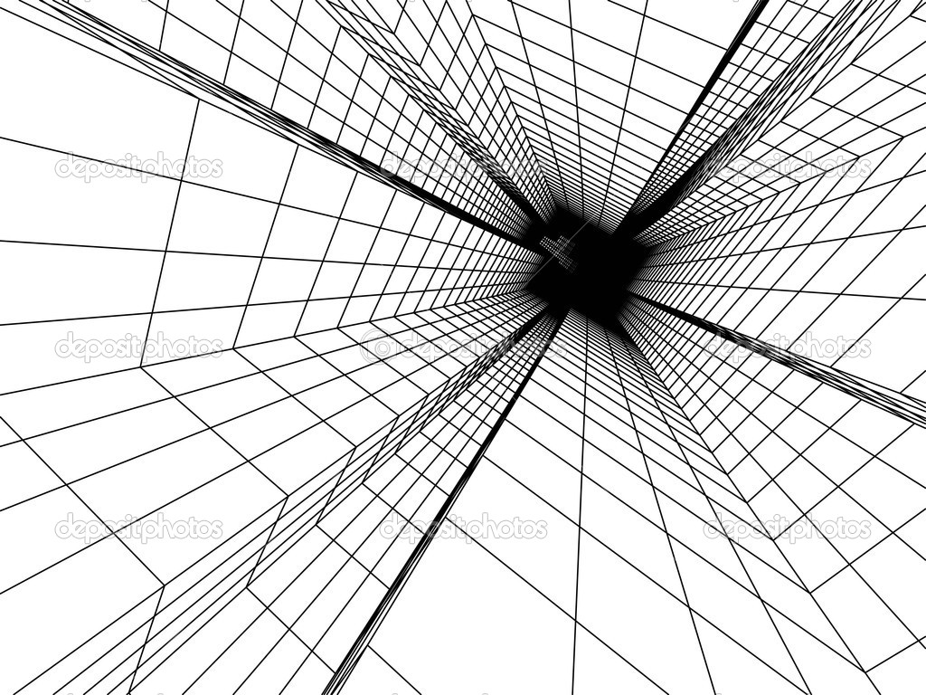3d Cube Live Wallpaper Free Download 3d Sketch Monochrome Architecture Stock Photo