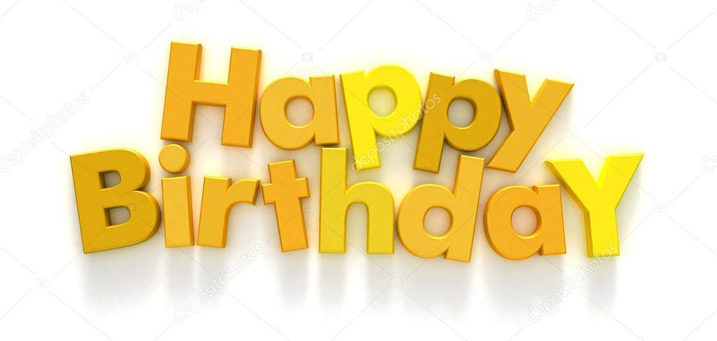Imágenes letras amarillas Feliz cumpleaños en letras amarillas