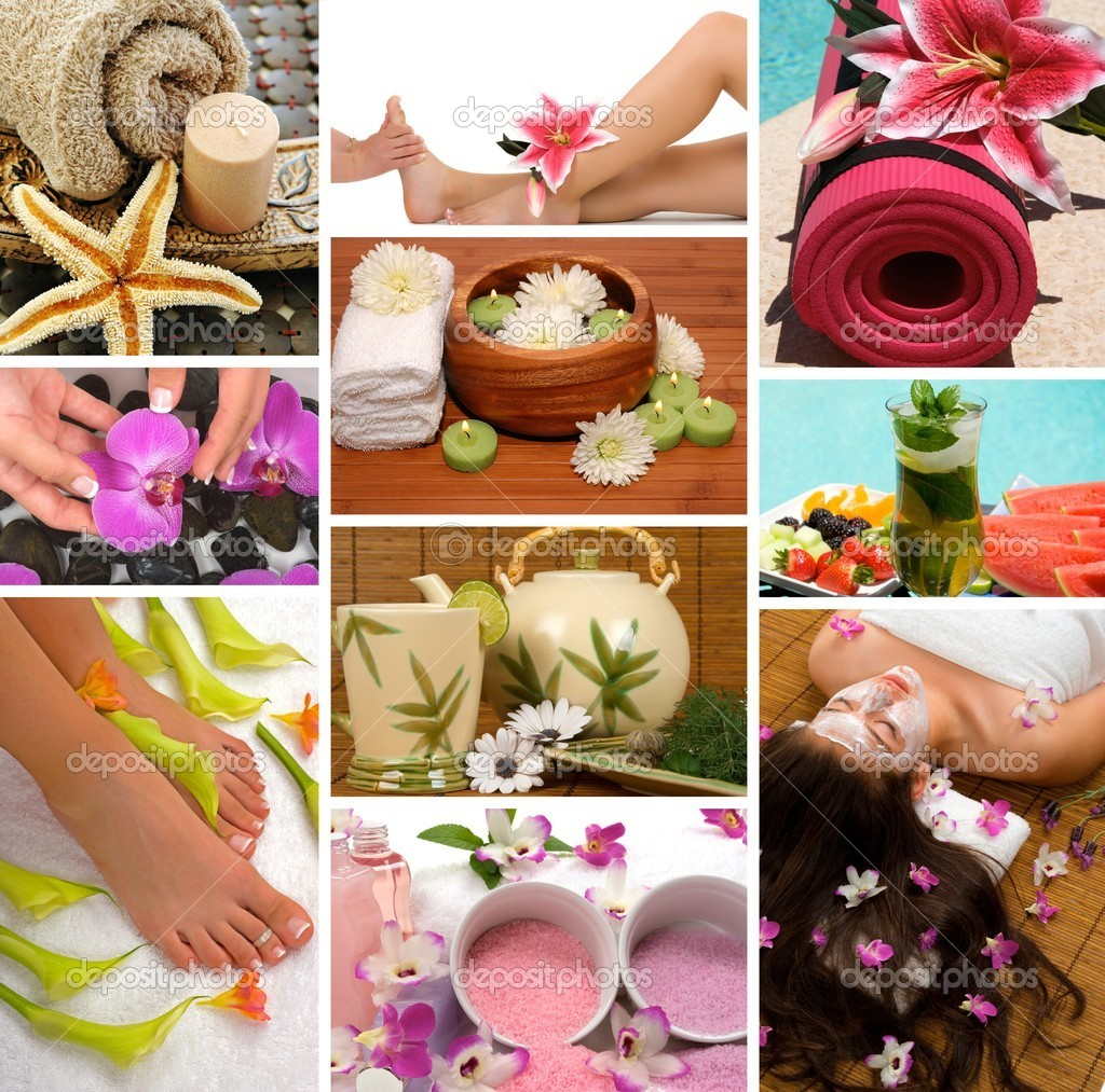 Salon De Massage 94 Spa Collage Stock Photo Bvdc01 2158932