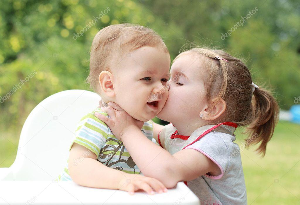 Cute Kid Wallpapers Free Download Children Kissing Stock Photo 169 Joruba75 2390528