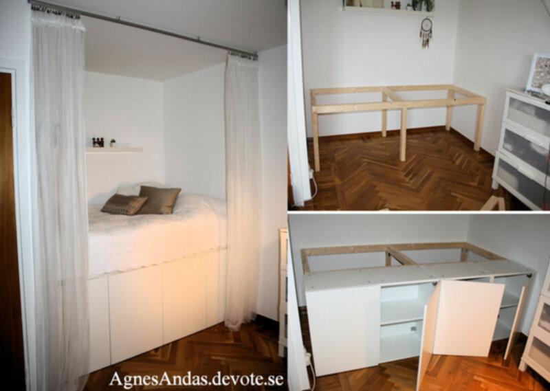Himmelbett Doppelbett CALGARY weiß Ehebett mit Regalen - farbe fürs schlafzimmer
