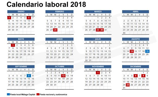 Calendario laboral 2018, más de 200 plantillas para imprimir y