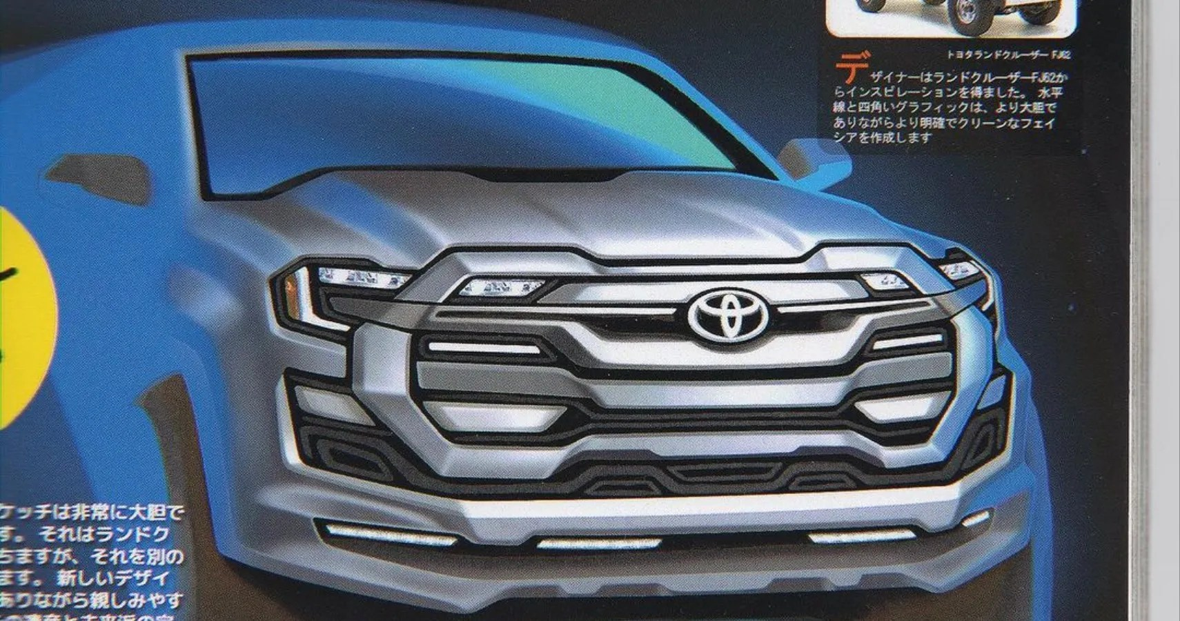 Car Manufacturers With I 2022 Toyota Land Cruiser 300 Render Shows Off Massive Grille