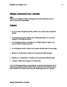 biology coursework osmosis - conclusion
