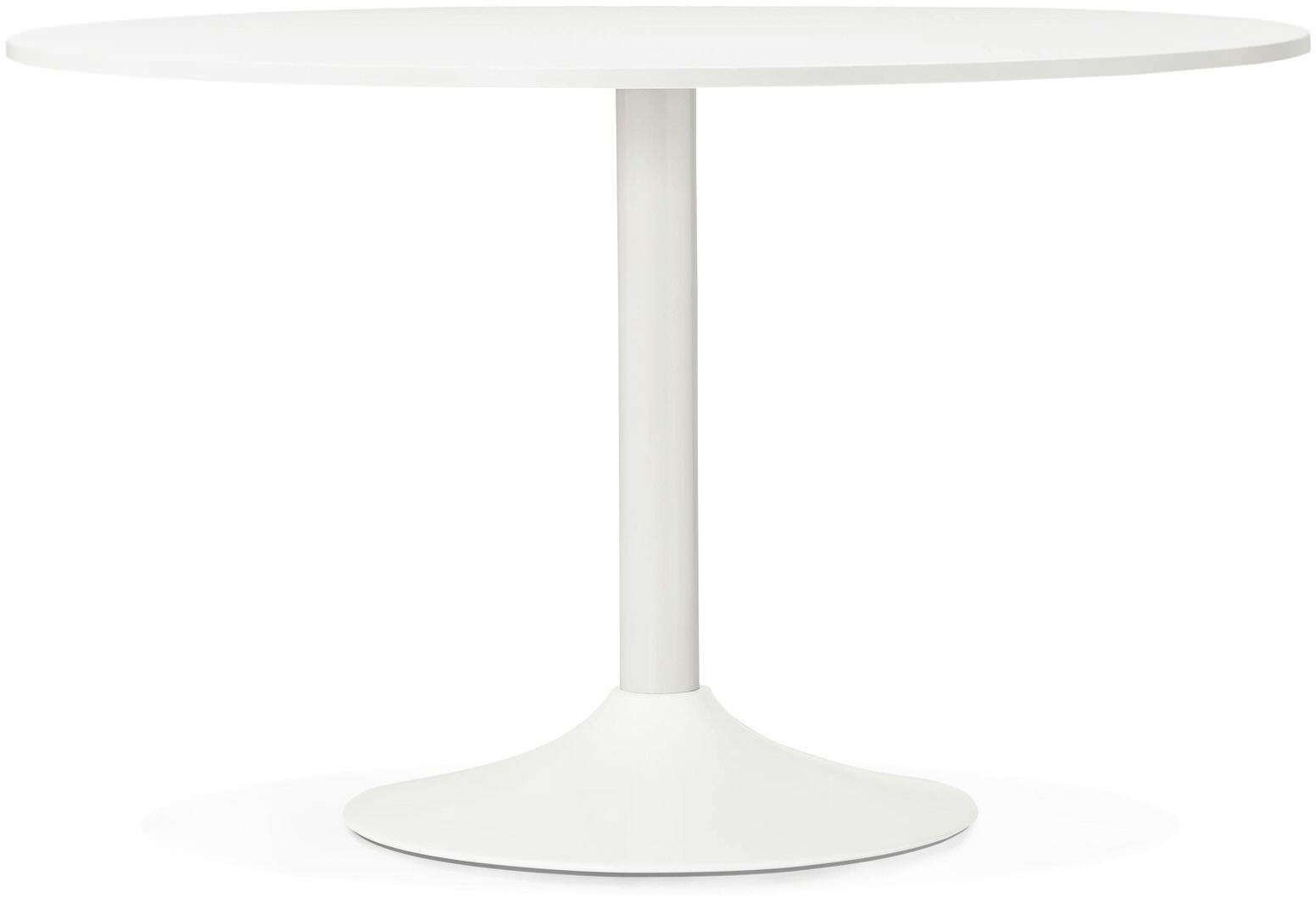 Table Ronde Bois Blanc Table Design Rekon Kokoon Design Blanc