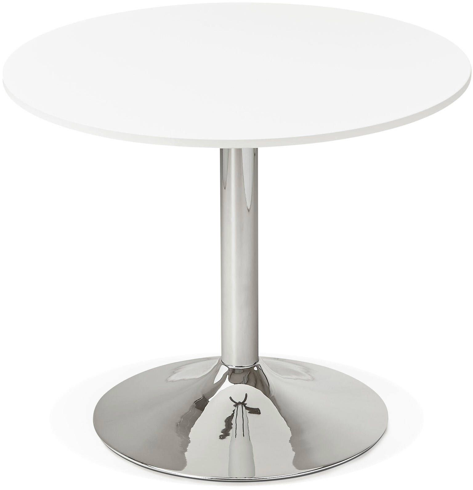Table Ronde Bois Blanc Table Design Radon Kokoon Design Blanc