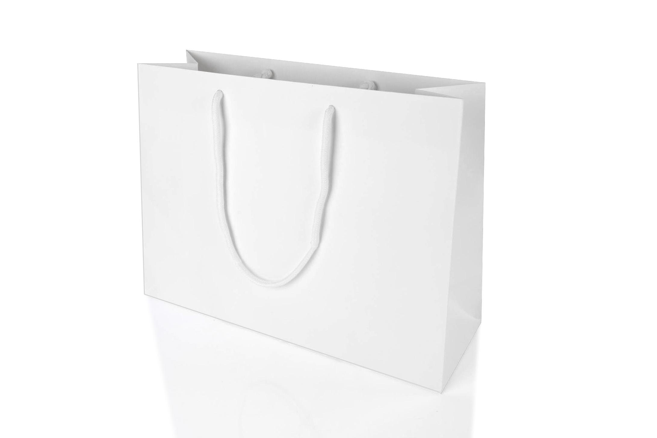 Paper Gift Bags Wholesale Large Landscape White Paper Gift Bag With Rope Handles 250