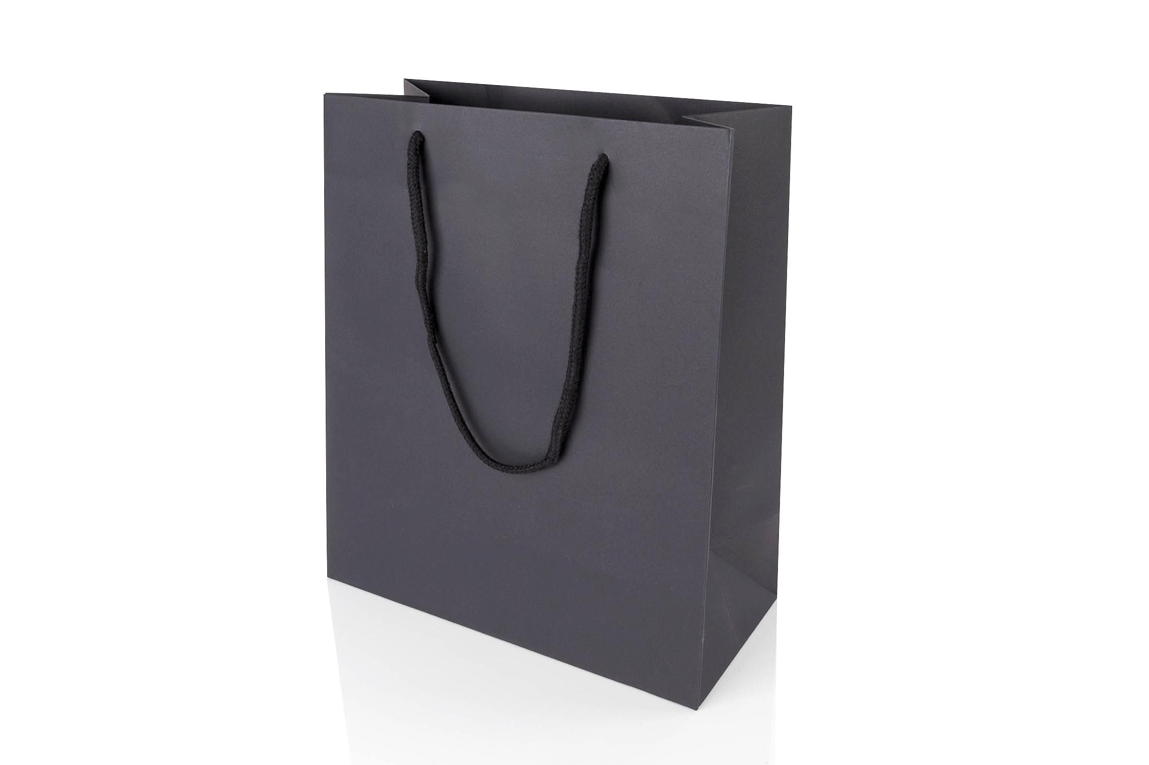 Paper Gift Bags Large Portrait Black Paper Gift Bag With Rope Handles 300