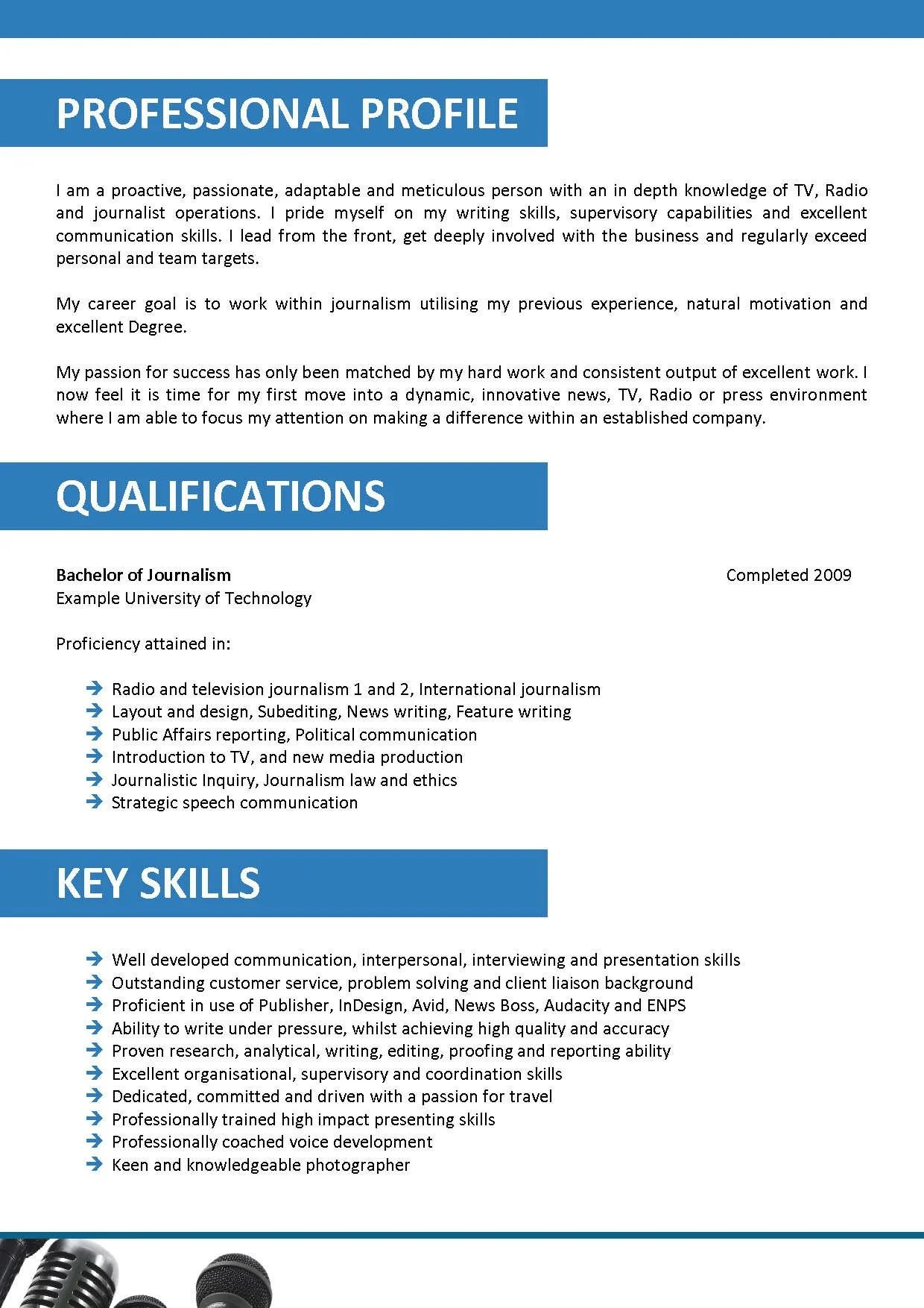 Journalist Resume Sample Resumes Misc Livecareer We Can Help With Professional Resume Writing Resume