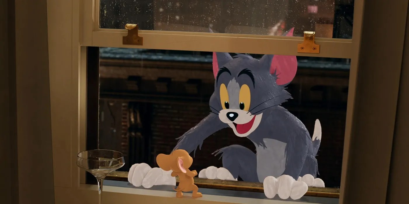 Tom Jerry Movie Trailer Brings 2d Characters Into The Real World