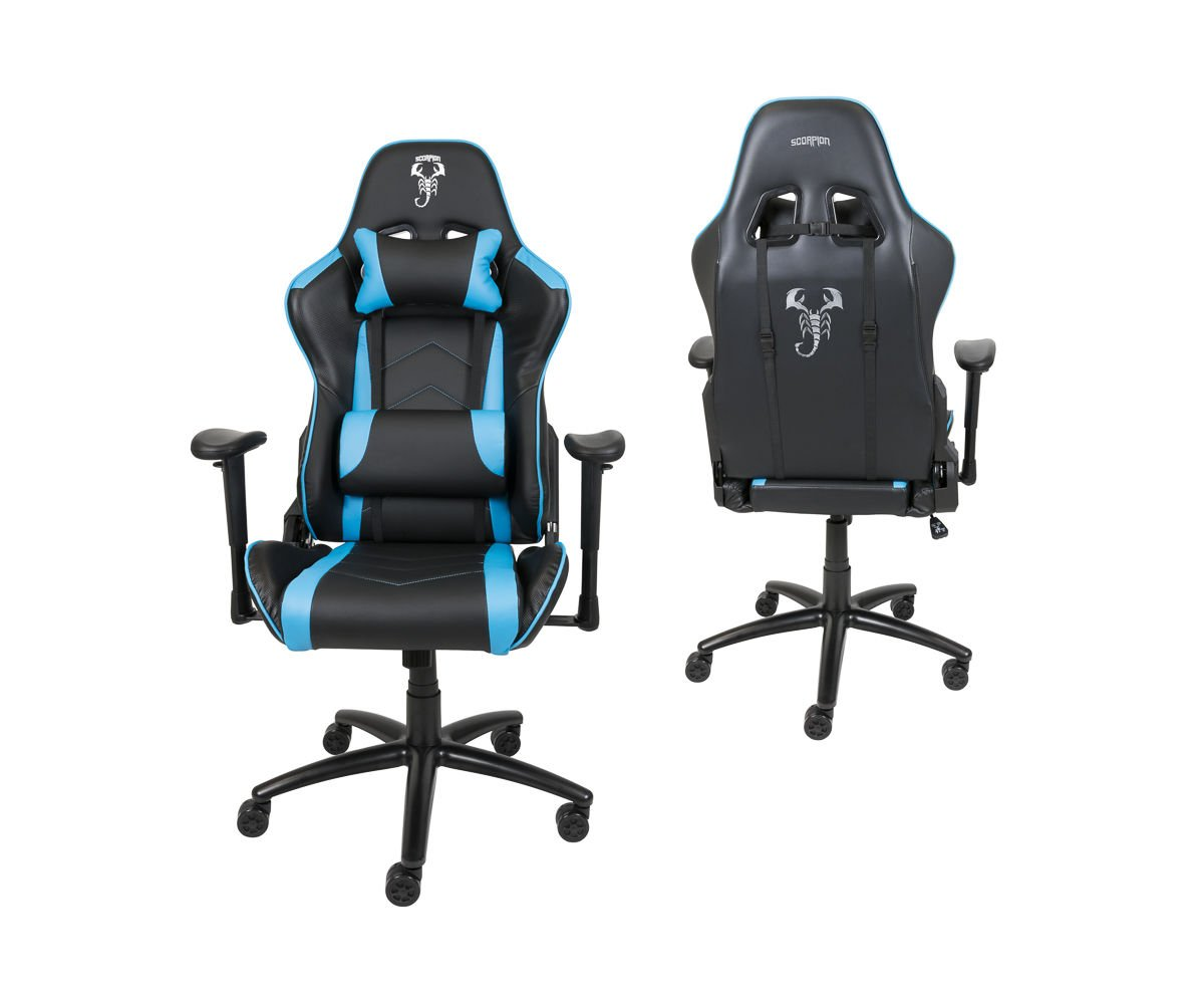 Sessel Büro Gaming Sessel Scorpion Hellblau Skg004 Jn