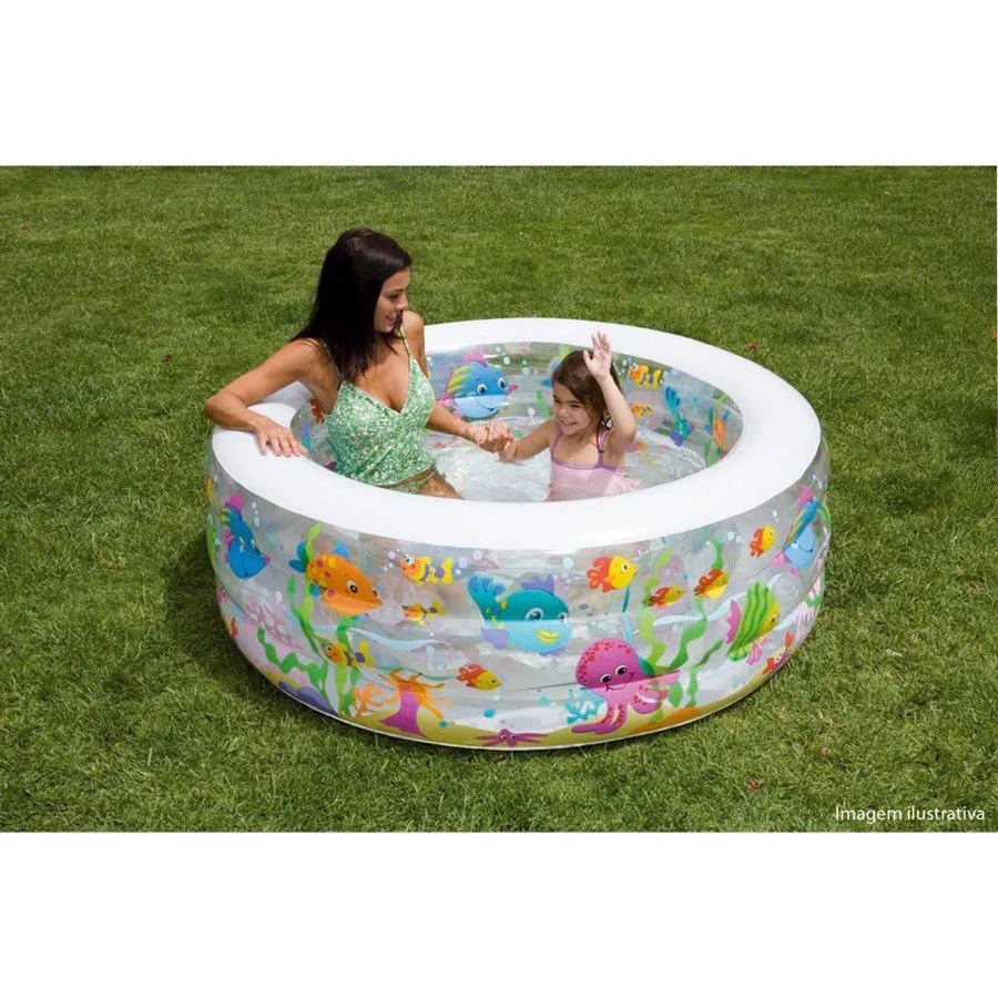 Capa De Piscina Intex Piscina 152x56cm 318l Fundo Inflavel Intex Capa Para Piscina Lona