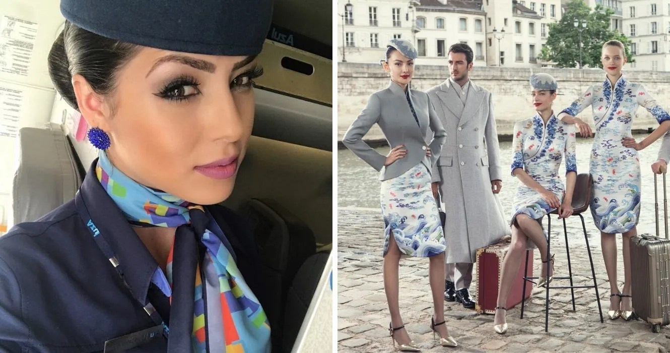 20 Most Flattering Flight Attendant Uniforms Thetravel - Neck Scarf Air Hostess