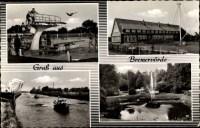 Passepartout Ansichtskarte / Postkarte Bremervrde in ...