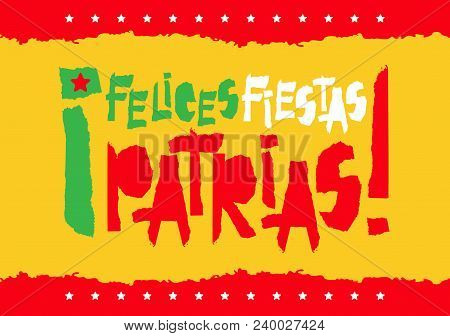 Flat Fiestas Patrias Design For Banner, Apparel Print Independence