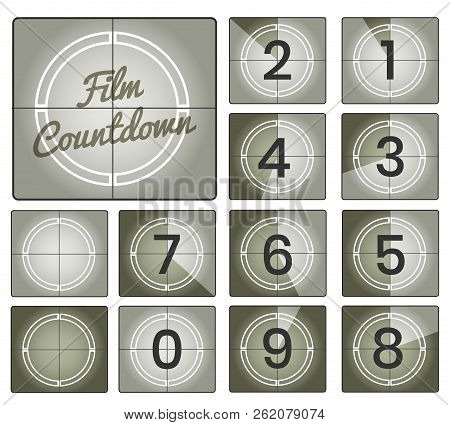 Film Countdown Movie Numbers Countdown Backgrounds, Old Camera