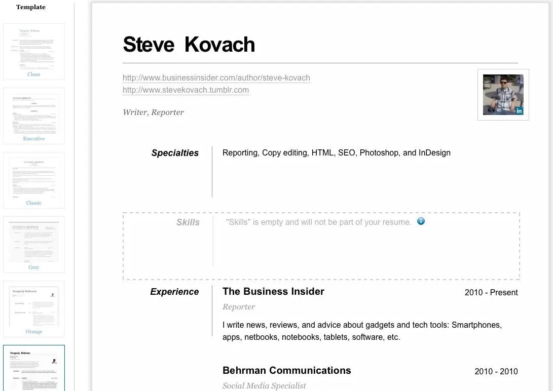 linkedin resume builder template - Linkedin Resume Generator
