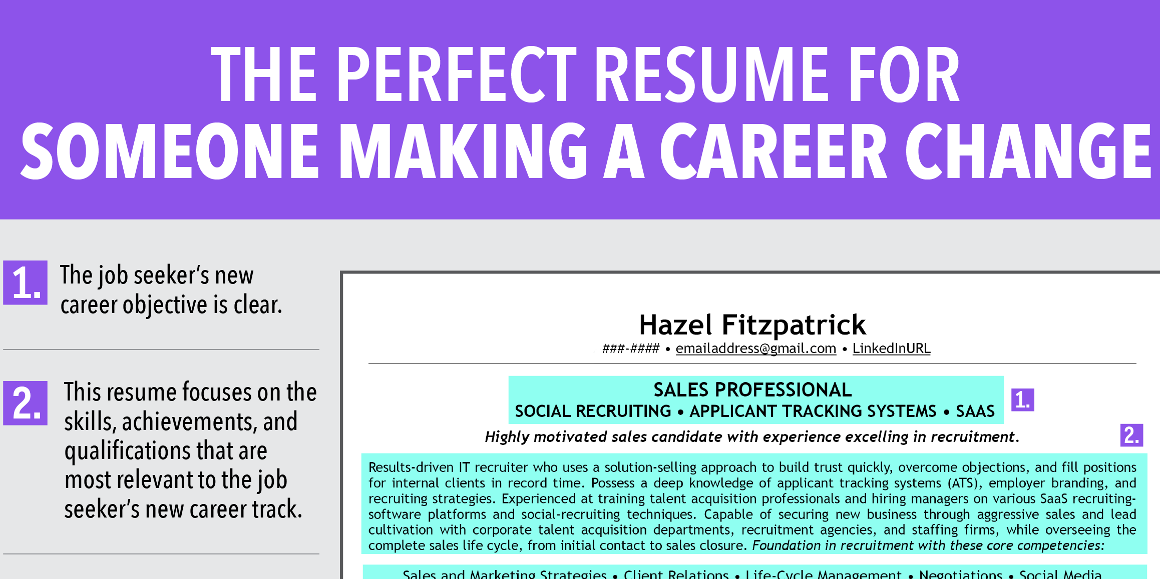 Ideal Resume For Someone Making A Career Change - Business Insider - career change resume objective