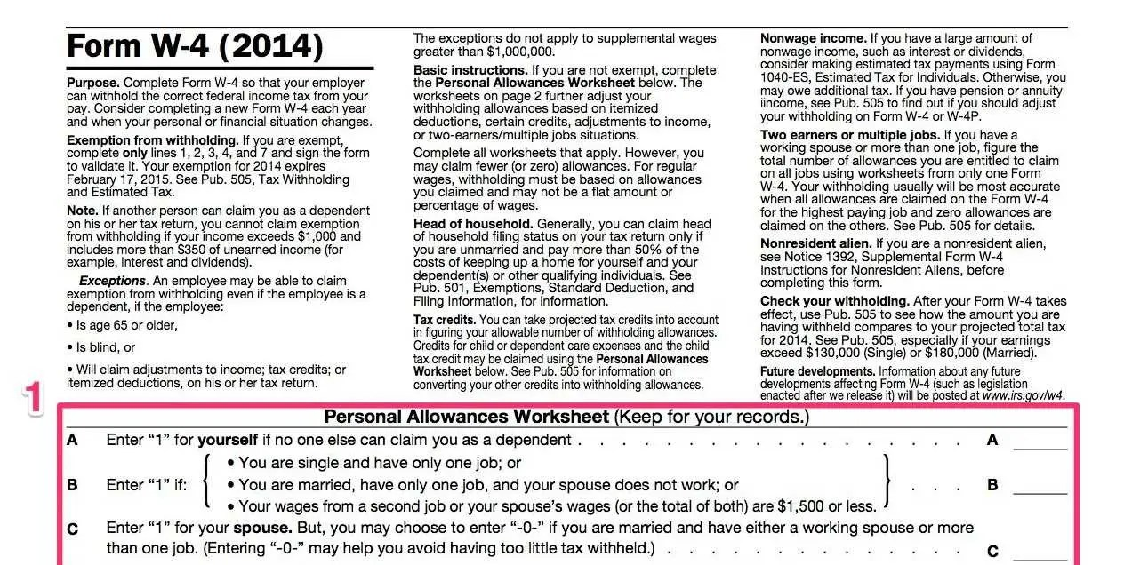 How To Fill Out A W-4 - Business Insider - tax form