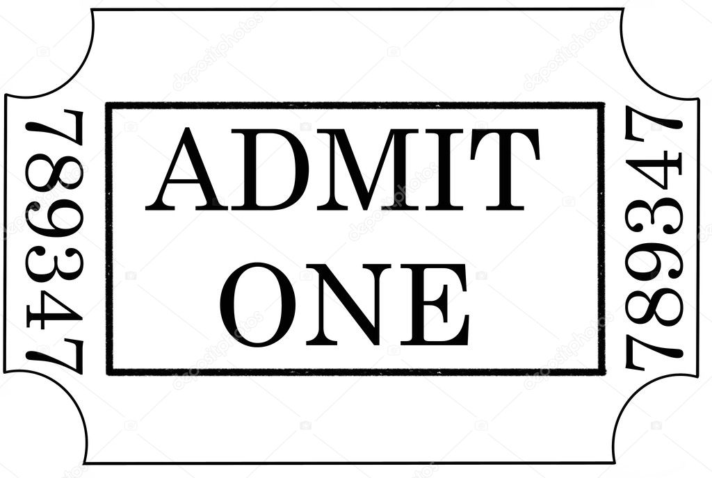 Blank admit one ticket template resumecharacterworldco – Blank Admit One Ticket Template