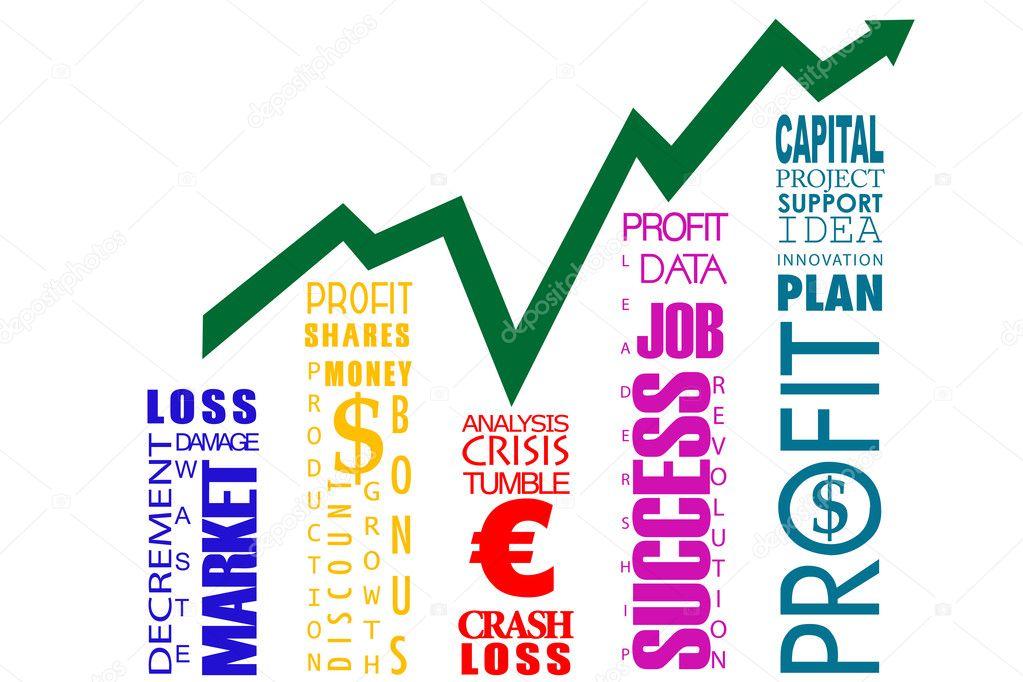 Word cloud bar graph \u2014 Stock Photo © get4net #4164194