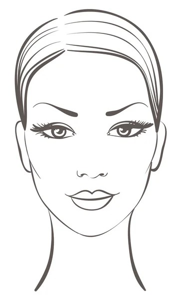 Stock-illustration-beautiful-woman-face Woman Face Stock Vectors Royalty Free Woman Face