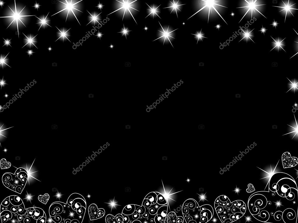 3d Red Star Live Wallpaper Abstract Background In Black With Hearts And Stars Stock
