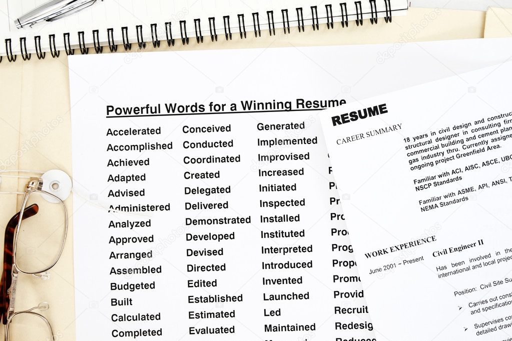 Powerful words resume u2014 Stock Photo © fiftycents #3769859 - powerful resume words