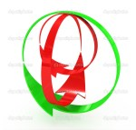 Red Curved Arrow Right