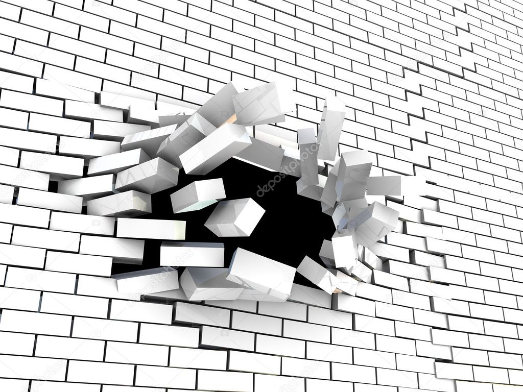 Falling Images Live Wallpaper Breaking Wall Stock Photo 169 Mmaxer 3555327